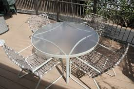 details about vintage brown jordan tamiami patio dining set 48 table 4 chairs