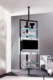 Tv Cabinet Design For Small Space Sleek Silhouette Of The Tv Stand Ensures It Takes Little