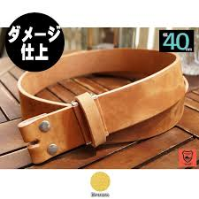 no buckle belts men s leather nubuck brown tea silver slotted gin sli tochigi leather