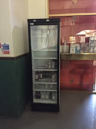 prodis xd380 hinged single glass door display fridge used