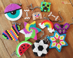 Cool Designs With Perler Beads Craft For Kids Perler Bead Backpack Tags