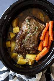 slow cooker pot roast countryside