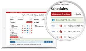 College Class Scheduler Schedule Planner University Of Houston