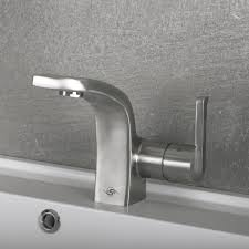 stainless steel bathroom faucets. DAX Single Handle Bathroom Faucet, Stainless Steel Body, Brushed Finish, 4-13 Faucets U