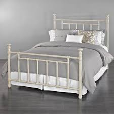 blake iron bed by wesley allen rustic ivory finish