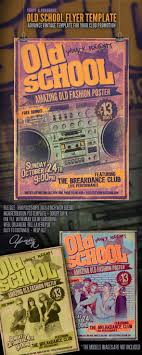 old school flyer template on behance