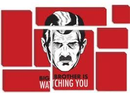 in 1984 big brother is always watching people a fact that later haunts winston and julia