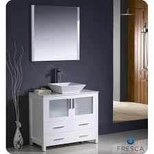 contemporary bathroom vanities 36 inch. Modern White Bathroom Vanities Fresca Torino 36 Inch Vanity With Vessel Sink Contemporary