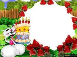 Birthday Cake Childrens Photo Frame Insert Photos Wallpaper