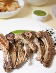 Grilled Lamb Chops With Cilantro Mint Sauce Veena Azmanov
