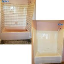 116 best our work bathtub transformations images on of the cover up painting tiles with