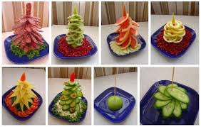 Easy Christmas tree appetizers