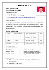 Fill In The Blank Resume Pdf Inspirational Resume Blank Format Pdf