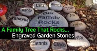 engraved garden stones. Family-garden-rocks-10312015 Engraved Garden Stones E