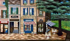 italian cafe painting italian cafe