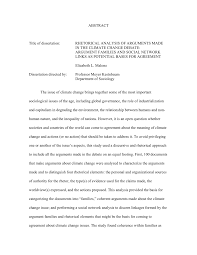 rhetorical analysis of arguments made in the climate change debate  rhetorical analysis of arguments made in the climate change debate argument families and social network links as potential bases for agreement pdf