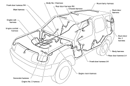 2003 nissan xterra power supply ground circuit elements and harness nissan xterra wiring harness routing