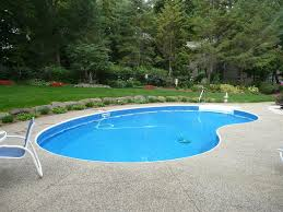Kidney Shaped Inground Swimming Pool Designs For Large Space
