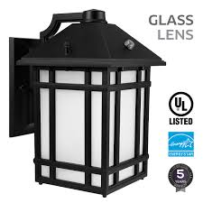 led outdoor wall lantern with dusk to dawn photocell 23w 130w motion activated light sensor led