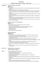 Payroll Assistant Sample Resume Payroll Assistant Resume Samples Velvet Jobs 4