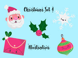 Christmas Vector Bundle Set For Kids 4 Graphic By Vijackstudio Creative Fabrica