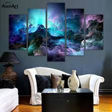 5 panel abstract wall art canvas prints abstract colorful cloud painting for modern home decoration wall on colorful wall art canvas with 5 panel abstract wall art canvas prints abstract colorful cloud