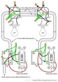 basic light switch diagram projects pinterest electrical Diagram For Wiring A Light Switch two lights between 3 way switches with the power feed via one of the light diagram for wiring light switch
