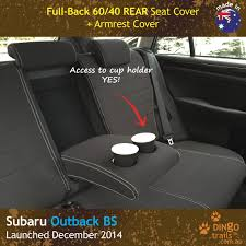 custom fit waterproof neoprene subaru outback bs rear seat cover with armrest cover