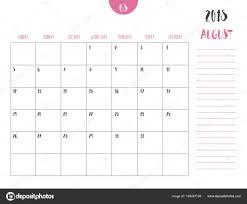 August Theme Calendar Vector Of Calendar 2018 August In Simple Clean Table