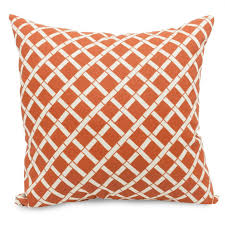 outdoor throw pillows orange outdoor pillows solid striped throw burnt pillow