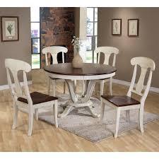 baxton studio napoleon chic country cottage piece round dining oak table set baxton com