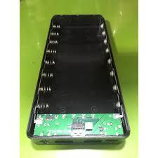 Box sạc dự phòng không pin 8 cell 18650 có cổng Type-C màu đen