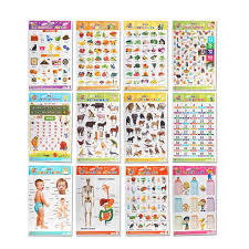 Creative Charts For School Mehta Graphics Pre School Learning Charts For Kids Combo