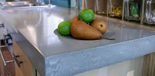 concrete countertop with fruit on it