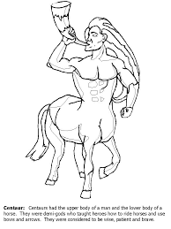 centaur greek coloring pages coloring book