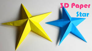 how to make simple 3d paper stars diy paper crafts