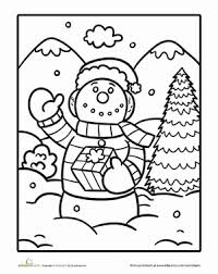 Small Picture Jolly Snowman Worksheet Educationcom