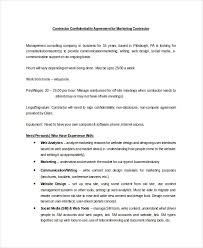 Contractor Confidentiality Agreements Classy Confidentiality Agreement Sample Colbroco