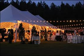 wedding tent lighting ideas. bistro string lights wedding tent lighting ideas