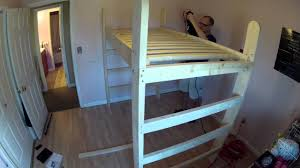Building A Loft Bed Building My Daughters Loft Bed Time Lapse Video Youtube