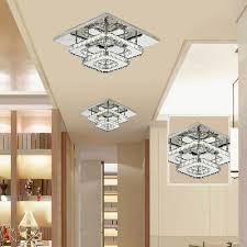 10 of 11 crystal led light modern square ceiling chandelier lamp pendant living room uk