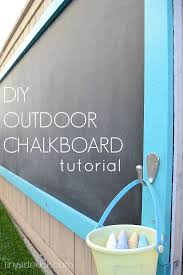 how to build an outdoor chalkboard