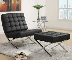 Leather Accent Chair With Ottoman Barcelona Chair Knock Off For An Incredible Price In Chicago