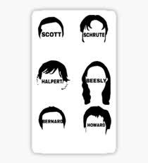 the office merchandise. the office us character drawings sticker merchandise
