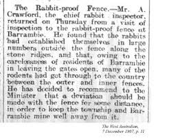 html the rabbit proof fence snippet from the west n 1907