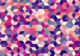 Abstract Colored Cubes Background ...