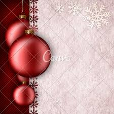 Christmas Background Template Baubles And Blank Space For