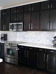 kitchen countertops quartz with dark cabinets. White Quartz Backsplash Photo 1 Of Kitchen Dark Cabinets Birch  With Shining Espresso Countertops Kitchen Countertops Quartz With Dark Cabinets T