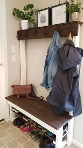 Bench Coat Racks Entry way shoeshelf coat rack bench diy with some 100x100 and cedar 100