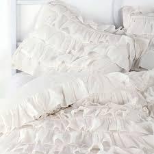 full size of bedding elegant white ruffle bedding rose garden duvet cover set 7jpg lovely